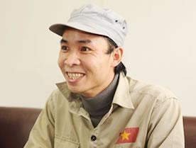 友晃産業 ベトナム人実習生 シさん